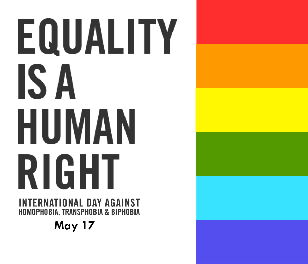 International Day Against Homophobia, Transphobia and Biphobia – May 17