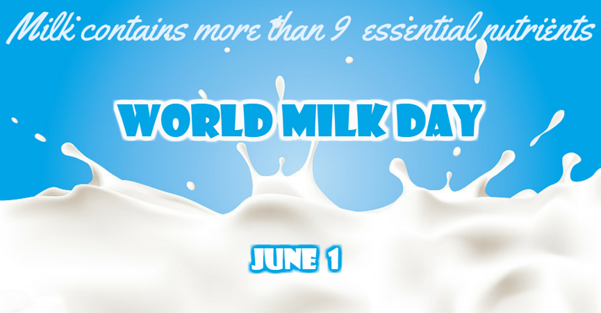 World Milk Day observed on June 1 By United Nations