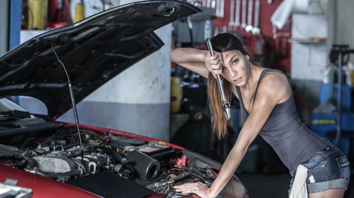 car mechanic girl