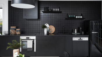 black modern home decor